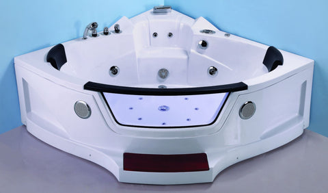 2 Person Computerized Hydrotherapy Bathtub Tub Whirlpool Massage Spa w/ Inline Heater - SYM623
