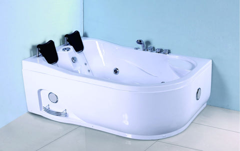 2 Person Corner Hydrotherapy Whirlpool Bathtub Spa Massage Therapy Hot Bath Tub w/ Heater - SYM633L