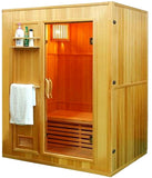 "60"" 2 / 3 Person Canadian Hemlock Wet Dry Steam SPA Sauna + 6KW Heater + More"