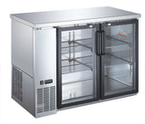 "48"" Glass Door Commercial Back Bar Cooler - Stainless Steel - UBB-24-48G-SS"