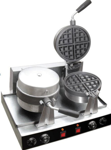 Commercial Double Waffle Maker Stainless Steel - Electric