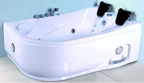 2 Person Corner Hydrotherapy Whirlpool Bathtub Spa Massage Therapy Hot Bath Tub w/ Heater - SYM633R