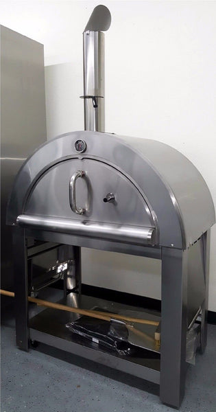 Xl Size Wood Fired Outdoor Stainless Steel Pizza Oven Bbq