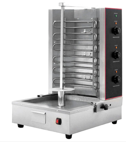 3 Zone 6KW Electric Gyro Machine Vertical Broiler Rotisserie Shawarma