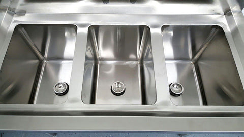 ... 3 Compartment Commercial Stainless Steel Sink Wash Basin Table