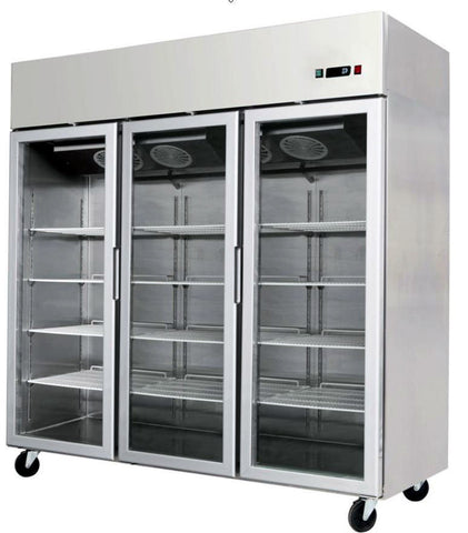 3 Door Commercial Reach In Glass Front Merchandiser Refrigerator - MCF-8606