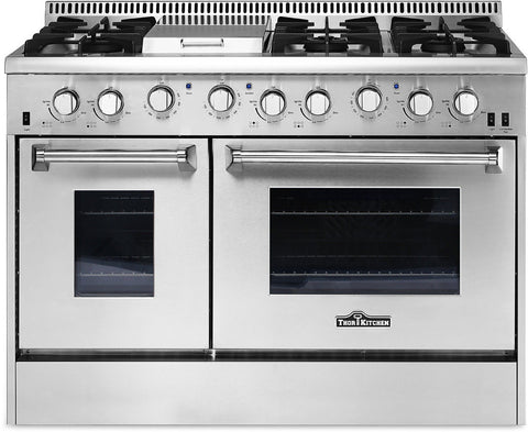 "Thor Kitchen 48"" Professional Gas Range Stove Oven w/ Griddle HRG4808"