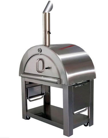 XL Size Wood Fired Outdoor Stainless Steel Pizza Oven BBQ Grill w/ Accessories
