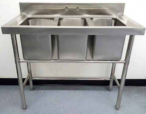 Good ... 3 Compartment Commercial Stainless Steel Sink Wash Basin Table ...