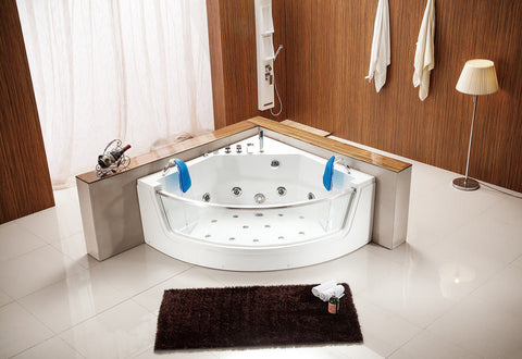 Indoor Computerized Hydrotherapy Whirlpool Jetted Massage Bathtub SPA HEAT