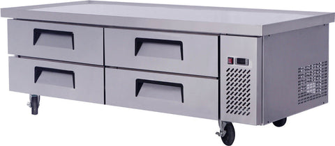"MGF-8454 76"" Extended Top Stainless Steel Refrigerator Chef Base Work Table"
