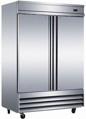 CFD-2RR 2 Door Stainless ReachIn Commercial Refrigerator Cooler Double Door