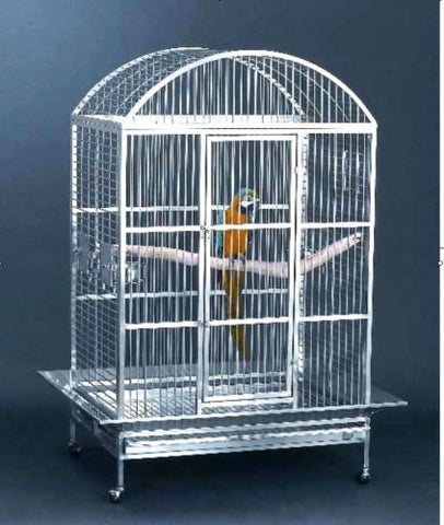 Large High Quality 304 Stainless Steel Bird Parrot Macaw Cage Wire Dometop