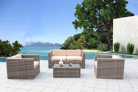 Santa Cruz Sunbrella Outdoor Wicker Patio Furniture Set