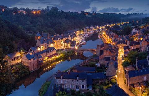 Dinan France in the Brittany region