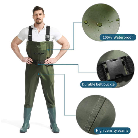 Waterproof-Fishing-Waders-with-Wading-Belt-and-Thickened-Boots
