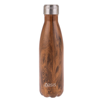 Oasis Stainless Steel Insulated Drink Bottle 500ml Teak