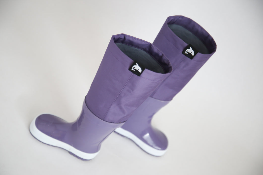 KidORCA Rain Boots with Above Knee Waders_GRAPE