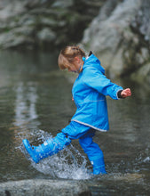 Load image into Gallery viewer, KidORCA Rain Boots with Above Knee Waders_BLUE