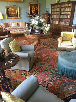 Antique Carpet in Traditional Setting