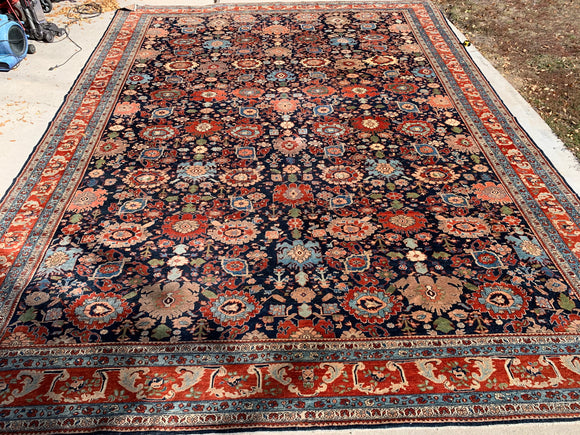 "Woven Legends Turkish Hand-Knotted Recreation of 19th Century Persian Bijar   14'4""x 18'5"" SOLD"
