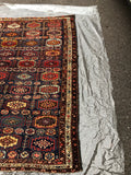 "1900's Antique Persian Kurdish Rug   4'8""x 6'5"""