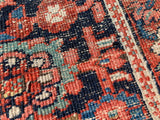 "Antique Persian Hand Knotted Serapi Oriental Rug.  9'6""x 11'3"""