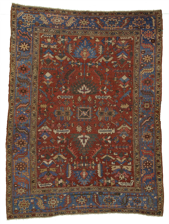 Antique Persian Heriz Village Carpet           8'7