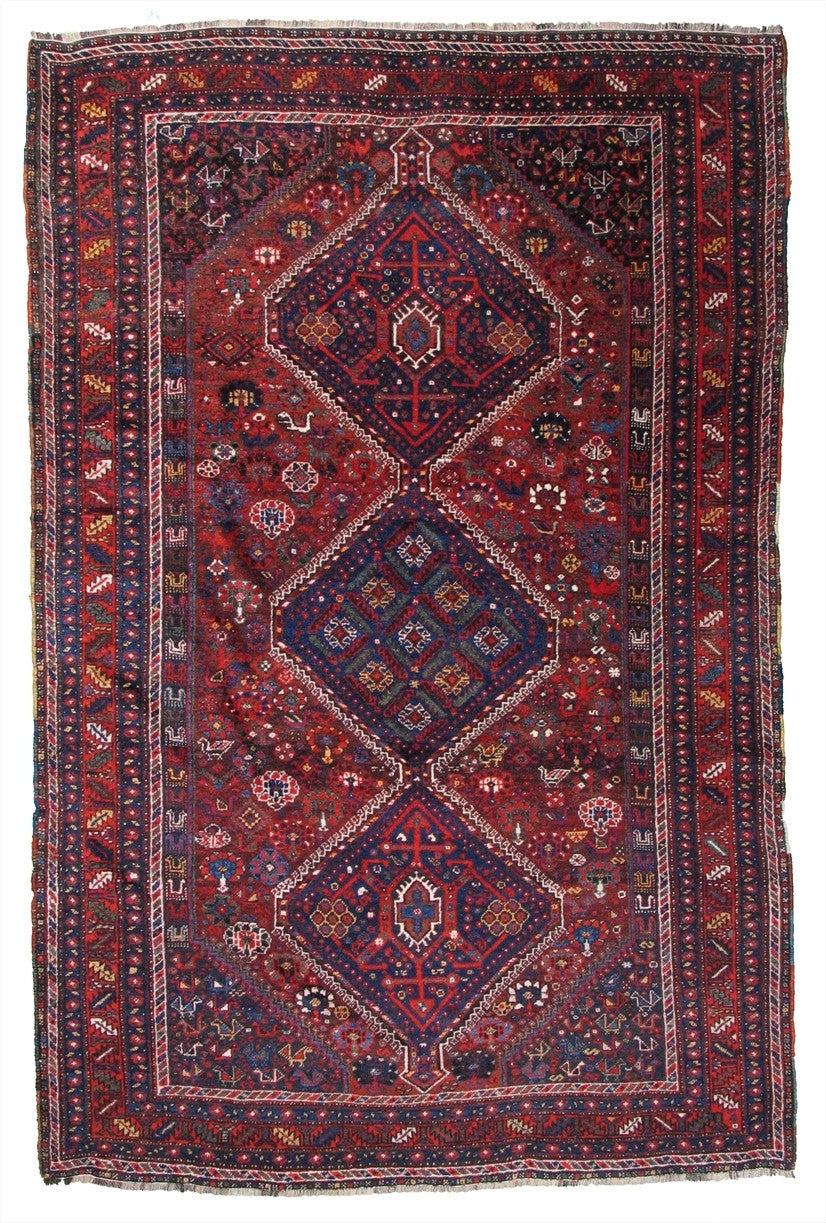 "Antique Persian Rug    6'10""x 10'6"""