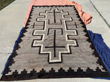 "Antique Large Navajo Rug. 5'11""x 10'2"" SOLD"