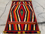 "1890's-1900's Antique German Town Navajo Rug.   4'4""x 6'5"" SOLD"