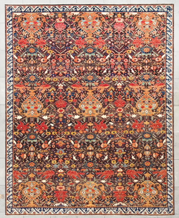 "New Afghanistan Hand-Knotted Antique Recreation  7'10""x 9'9"""