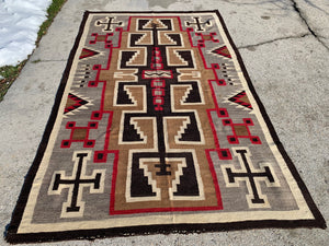"Antique Navajo Rug Large.   4'9""x 7'9"". SOLD"