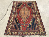 Antique Persian Maslaghan Village Rug.  4'x 6'
