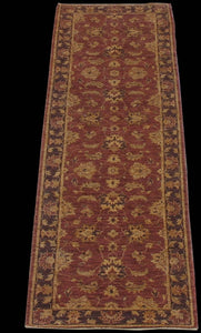 "New Pakistan Hand-woven Antique Reproduction of a 19th Century Persian Tabriz Runner  2'7""x 9'7"""