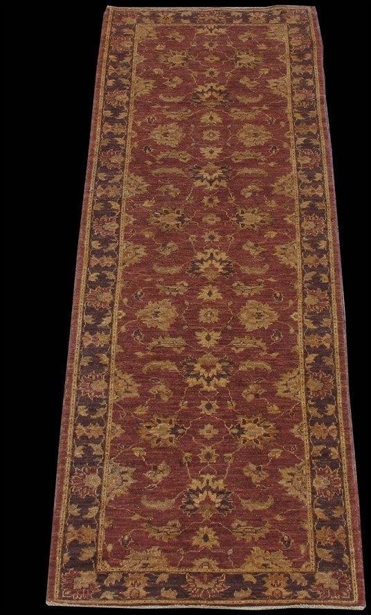 New Pakistan Hand-woven Antique Reproduction of a 19th Century Persian Tabriz Runner  2'7