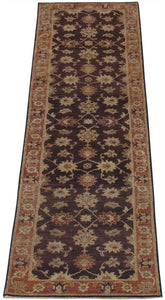 "New Pakistan Hand-woven Antique Reproduction of a 19th Century Persian Tabriz Runner  2'7""x 10'6"""