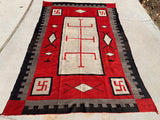 JB Moore Plate Catalogue Large Antique Navajo Rug