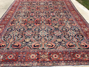 Antique Persian Mahal Oriental Carpet  10'x 13'  SOLD