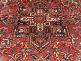 "Old Persian Hand-Knotted Gorevan Heriz Oriental Carpet    8'10""x 11'4"""