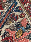 "Antique Persian Bakhtiari Oriental Rug 6'8""x 5'.  SOLD"