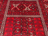 "Hand-Knotted Afghanistan Hatchli Oriental Rug   5'8""x 7'7"""