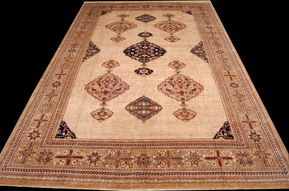New Pakistan Hand-woven Antique Reproduction of a 19th Century Persian Serab Carpet  12'3
