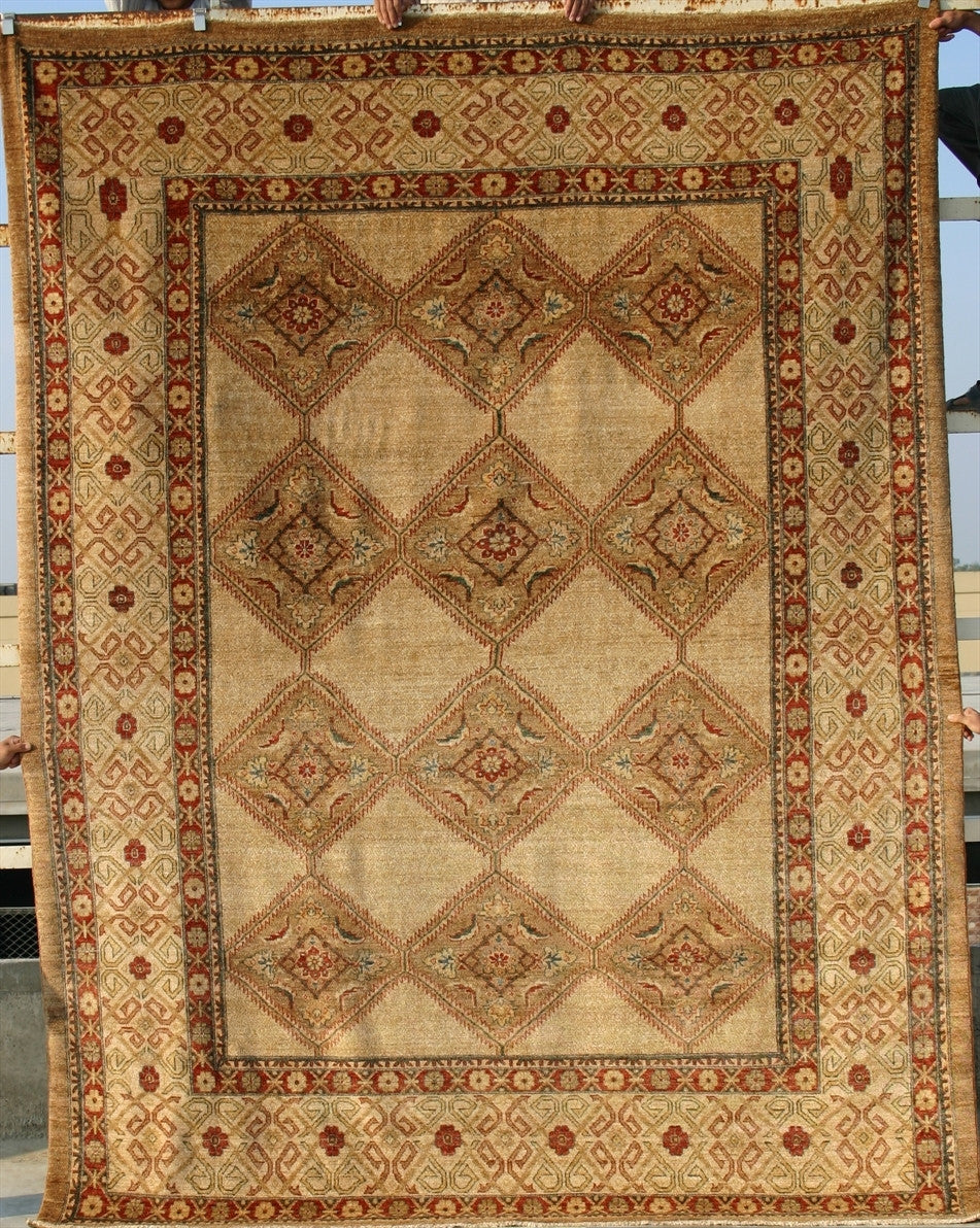 "New Pakistan Hand-woven Antique Reproduction of a 19th Century Persian Serab Carpet  8'3""x 10'1"""