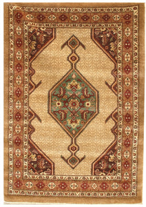 "New Pakistan Hand-woven Antique Reproduction of a 19th Century Persian Serab Rug  4'1""x 5'10"""