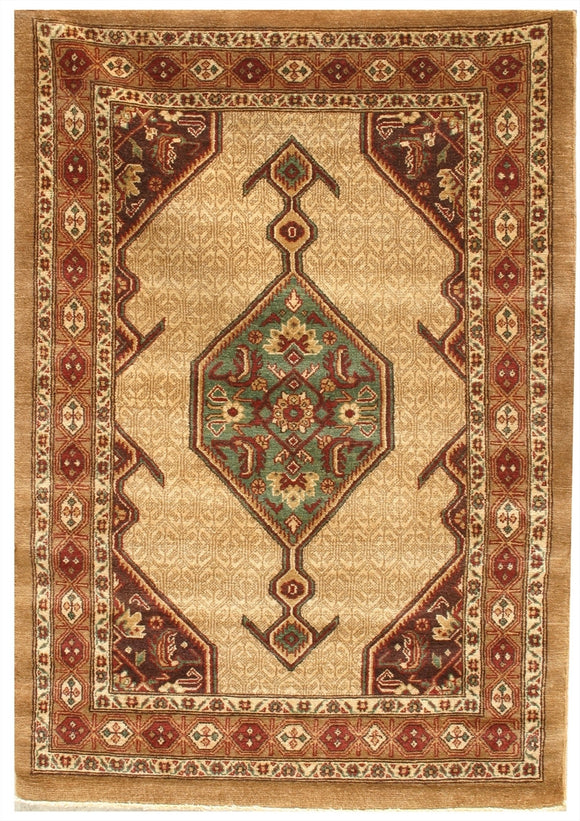 New Pakistan Hand-woven Antique Reproduction of a 19th Century Persian Serab Rug  4'1