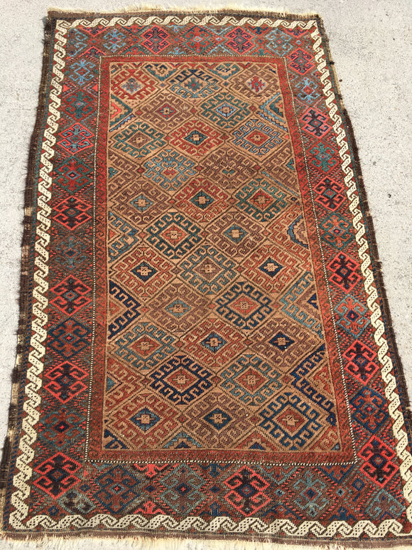 1800's Antique Baluch Rug Gorgeous 3'x 5' SOLD