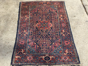 "Antique Persian Hamadan Oriental Rug  3'7""x 5'    SOLD"