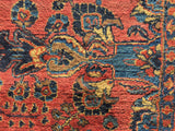 Antique Persian Hand-Knotted Sarouk Oriental Carpet 9'x 11'6'