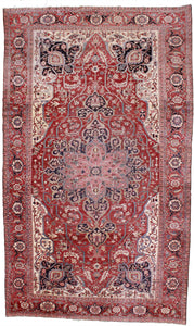 1890's Antique Over Sized Hand Knotted Persian Serapi. 11'x 16'6""